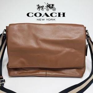 Coach Charles Messenger Bag Calf City Leather